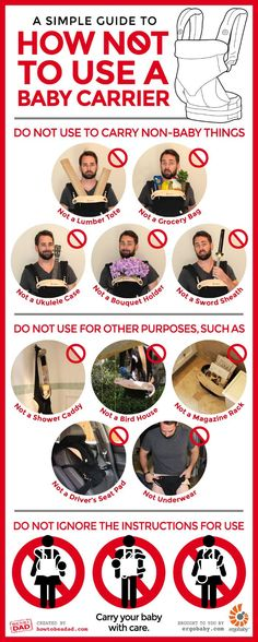 10 Ways Not To Use A Baby Carrier   How to Be a Dad   #babywearing #ergobaby #ergobaby360