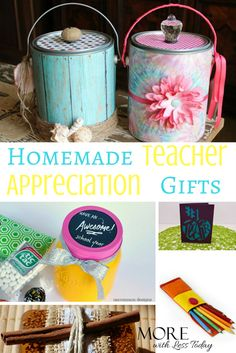 homemade teacher appreciation gifts, crafts for teacher gifts, creative ways to thank a teacher, creative thank you gifts for teachers, teacher gifts Teacher Appreciation Week, Teacher Gifts, Pottery Barn Style, Uncommon Gifts, Teacher Favorite Things, Jar Gifts, Unusual Gifts, Gifts For Girls, Creative Gifts