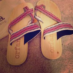 orfana sandals Helping orphans! LOVE this organization! All proceeds go to help a boys school in India. Made from real bamboo! I ordered these red Aztec sandals thinking they would be the right size, but unfortunately they were not. NEVER WORN EVER!!! Orfana Shoes Sandals