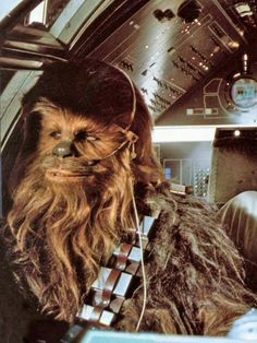 Star Wars: Chewbacca, co-pilot of the Millennium Falcon Film Star Wars, Star Wars Art, Star Trek, Chewbacca, Ewok, Tachisme, Pop Art, Star Wars Episode Iv, Millennium Falcon
