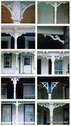 27 wood trim ideas for the front porch - Click Americana Victorian Porch, Victorian Homes, Porch Trim, Porch Brackets, Wooden Trim, Decorative Wood Trim, Pergola Diy, Corner Pergola, Pergola Ideas