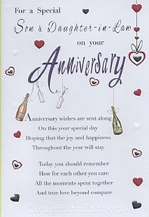 Wedding Anniversary Messages For My Son And Daughter In Law