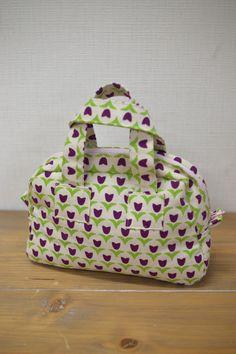 Tulip print mini Boston bag | kokka-fabric.com/en
