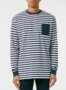 Legends T-Shirt mit Streifendesign, navyblau