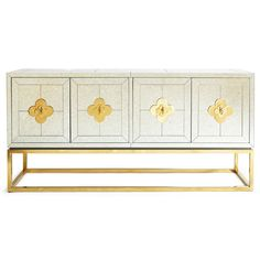 Dining Tables & Buffets - Delphine Credenza Jonathan Adler mirrored furniture