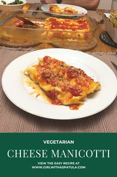 This recipe for homemade Cheese Manicotti will not disappoint you or your loved ones. Made with fresh pasta, ricotta, eggs and fresh tomato sauce, this recipes for cannelloni will be a winner any night of the week or the weekend. #vegetarian #cannelloni #budget #parmisan #sauce Easy Cheese, How To Make Cheese, Vegetarian Cheese, Vegetarian Recipes, Cheese Manicotti, Recipe Fo, Homemade Cheese, Fresh Pasta, Budget Meals