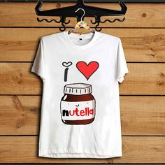 i love nutella T Shirt, I Heart Nutella Tshirt Women's T-shirt, Awesome T-shirt, All Color Available