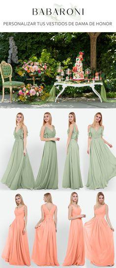 761b4ae66 Las 24 mejores imágenes de Vestidos de dama de honor de gasa ...
