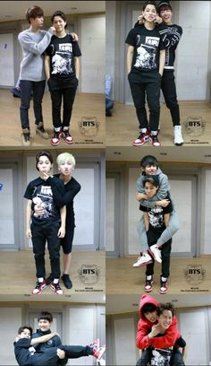 Awww they look so cute, fetus bangtan. PS: Yoongi carrying him princess style!! #yoonmin