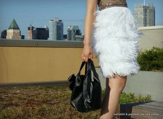 DIY No Sew Feather Dress | Meredith & Gwyneth, The New Yorkie