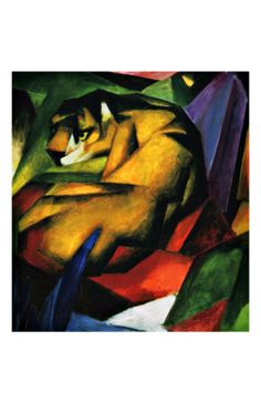 The Tiger by Franz Marc i think this piece shows fierceness