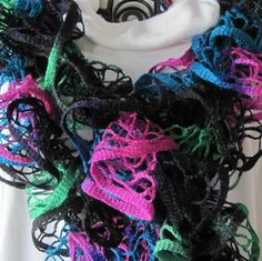 Winter/Spring  Knitted Scarves Dressy by annabannacrafts on Etsy