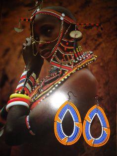 Handmade Maasai Tribe Kenya Africa Beaded Earrings by KENYANKANDY, $10.00