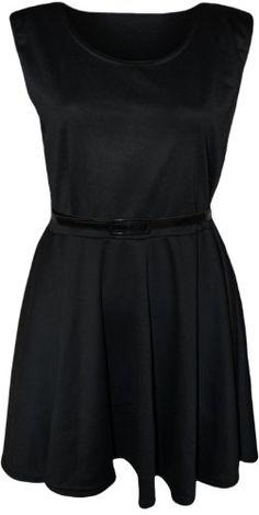 Candy Girl Clothing Sleevless Plain Skater Dress Belted (SM, Black) Candy Girl Clothing http://www.amazon.com/dp/B00KPWJ3IS/ref=cm_sw_r_pi_dp_09Zcwb0H15KFC