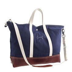 J.Crew - Steele Canvas Basket Corp.™ leather tote