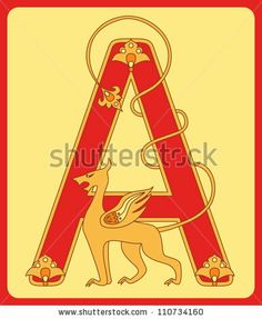 """Initial """"A"""" in the old Russian style by Inna G, via Shutterstock"""