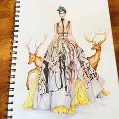 Dolce&Gabbana sketched by Eris Tran