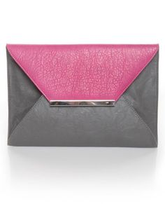 Pastry Case Pink and Grey Clutch...just put my name on the company's list to email me when this is available again.