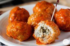 Blue Cheese-Stuffed Buffalo Meatballs