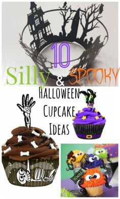 10 Silly & Spooky Halloween Cupcake Ideas! Perfect for your Halloween parties! #spon