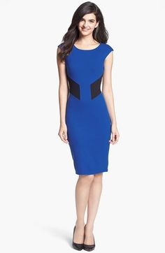 B44 Dressed by Bailey 44 'Biotech' Back Cutout Colorblock Sheath Dress available at #Nordstrom