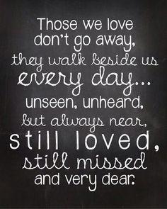Those we love never go away!