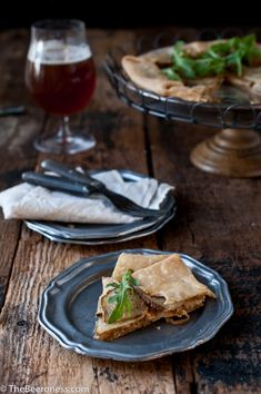 Potato, Porter Caramelized Onions & Beer Goat Cheese Tart | The Beeroness