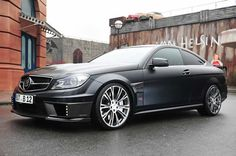 Brabus built Mercedes C-Coupe with tuned 800 hp V12 does 0-60 in 3.7 seconds en route to a top speed of 220 mph.