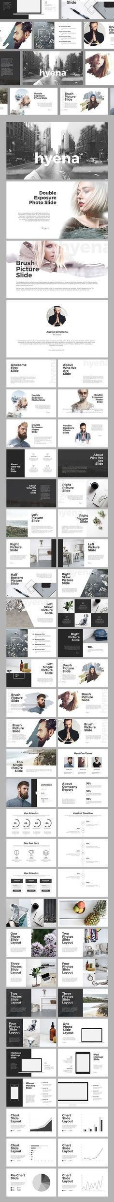 HYENA - Powerpoint Template • Download ↓ https://graphicriver.net/item/hyena-powerpoint-template/16928588?ref=pxcr
