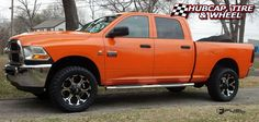 2011 Dodge Ram 2500, leveled, Fuel Dune - D524 black machined rims 20x9, +1…