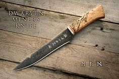 Dwarven Miners Knife 1 by Cedarlore Forge, via Flickr