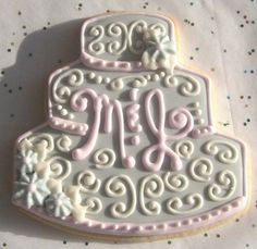 Already has our initials on it.  Romantic Interlude  Monogrammed Wedding Cookies  by lorisplace, $3.75