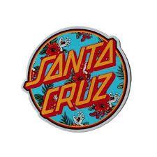 Santa Cruz Stickers, Santa Cruz Logo, Sock Smelling, Hand Socks, Santa Cruz California, Dot Logo, Hand Sticker, Skateboard Store, Miss Kobayashi's Dragon Maid