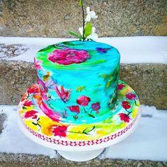 Hand Painted Cake  - Cake by Danijela Lilchickcupcakes
