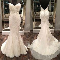 WD40 Mermaid Lace Wedding Dresses,Wedding Dress,Custom Made Wedding Gown,