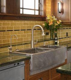 kitchen counters with backsplash ideas undercounter sink - Google Search