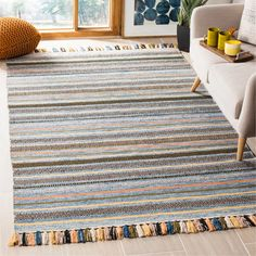 Shop Safavieh Handmade Flatweave Montauk Anoeska Casual Cotton Rug - On Sale - Overstock - 16899252 - x - Blue/Multi Blue Room Decor, Blue Rooms, Area Rug Sizes, Blue Area Rugs, Front Porch Seating, Maple Floors, Carpet Padding, Rug Shapes, Online Home Decor Stores