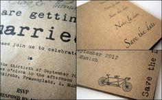 Hochwertige Hochzeitspapeterie aus recyceltem Papier. Recycled paper wedding stationery.