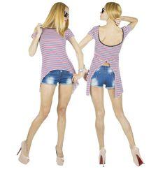 Tricou Dama Coco White  -Tricou dama  -Model ce cade lejer pe corp si poate fi purtat cu usurinta  -Detaliu spate gol     Latime talie:35cm  Lungime:55cm  Lungime colt:85cm  Compozitie:100%Bumbac Casual, Model, Blue, Scale Model, Models, Template, Pattern, Mockup