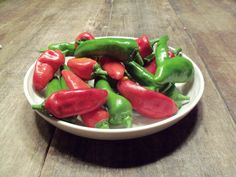 """green, white & red..... I love Italy....... this is  hot pepper from my garden. The name is """"friggitelli"""""""