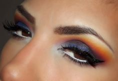 Perfect Sunset Smokey Eye for Summer. #beauty #makeup #smokeyeye