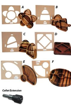Woodworking School Tray Making Template Package - Make beautiful serving trays with these unique templates. Includes all six tray making templates plus the router collet extension. Woodworking Courses, Woodworking School, Woodworking Toys, Learn Woodworking, Woodworking Techniques, Woodworking Projects, Woodworking Furniture, Woodworking Articles, Router Projects