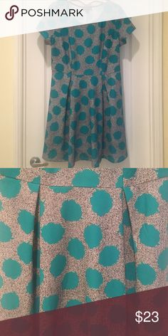 Forever 21 plus dress NWOT forever 21 plus dress size 2x with cute turquoise pattern. Stretch material with tshirt sleeves. Fits true to f21+ sizing. Length 28', waist 17' with stretch.  Forever 21 Dresses