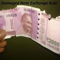 Damaged currency Exchange Rule  #damagednote, #tornnoteexchangerule, #mutilatednoterule