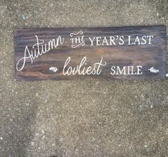 Autumn Wood Sign by allsignspoint2ray on Etsy