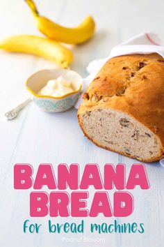 This yeasted bread machine banana bread recipe is lighter and healthier than traditional quick bread recipes because it has less sugar and butter. It is light and fluffy and makes amazing slices of toast with peanut butter, cream cheese, or Nutella. Bread Machine Banana Bread, Easy Bread Machine Recipes, Quick Bread Recipes, Banana Bread Recipes, Peanut Blossoms, Dinner Side Dishes, Delicious Sandwiches, Recipes For Beginners, Good Food