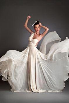 8600917cbb8d amazing vanilla dress - by designer Maria Lucia Hohan Romanian Wedding,  Kelly Rowland, Eva
