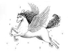 C. Cassandra Pegasus Art Print
