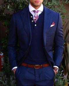 One can never wear too much navy!www.Grandfrank.com