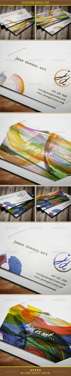 Watercolor Business Card - GraphicRiver Item for Sale
